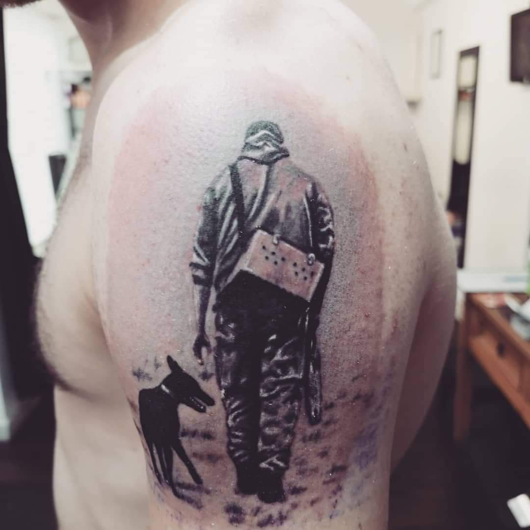 One Man And His Dog Tattoo Psychodelink Tattoo